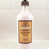 Village Naturals Therapy Aches & Pains Nighttime Relief Hand & Body Lotion 16 Oz.