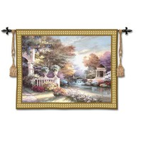 Pure Country Weavers 2521-WH Peaceful Song Woven Wall Tapestry