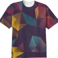 Cool Colorful Geometry Geometric Abstract Pattern All Over Tshirt created by all-over-print-t-shirts | Print All Over Me