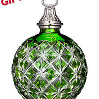 Waterford 2014 Annual Emerald Cased Ball Ornament