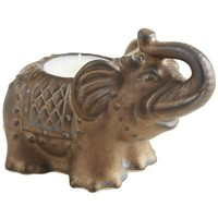 Bronze Elephant Filled Candle