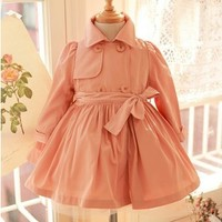 Vintage Inspired Girls Clothes Vintage Inspired Trench Coat   Vindie Baby