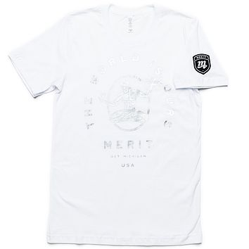 The World Is Ours Tee - White/Silver