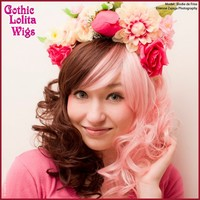 Lady Grace Collection - Berry Chocolate Split - Gothic Lolita Wigs Store