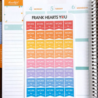Work Hours Planner Flag Stickers