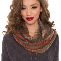 Arden Infinity Scarf - Brown - One Size / Brown