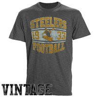 '47 Brand Pittsburgh Steelers Scrum Vintage T-Shirt - Charcoal