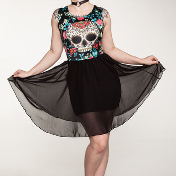 Day of the Dead Sugar Skull Cocktail Dress from Newbreed Girl