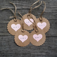 Personalized Wedding Tag, Rustic Wedding Tag, Favor Tags, Thank You Tags, Kraft Tag, Wedding Favor, Personalized Favor, Set of