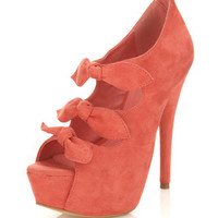Honor Coral Triple Bow Heel - Shoes