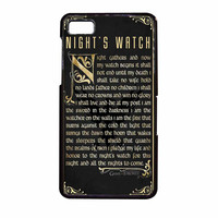 Game Of Thrones Nights Watch BlackBerry Z10 Case
