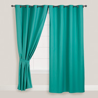 Beryl Green Parker Grommet Top Curtain - World Market