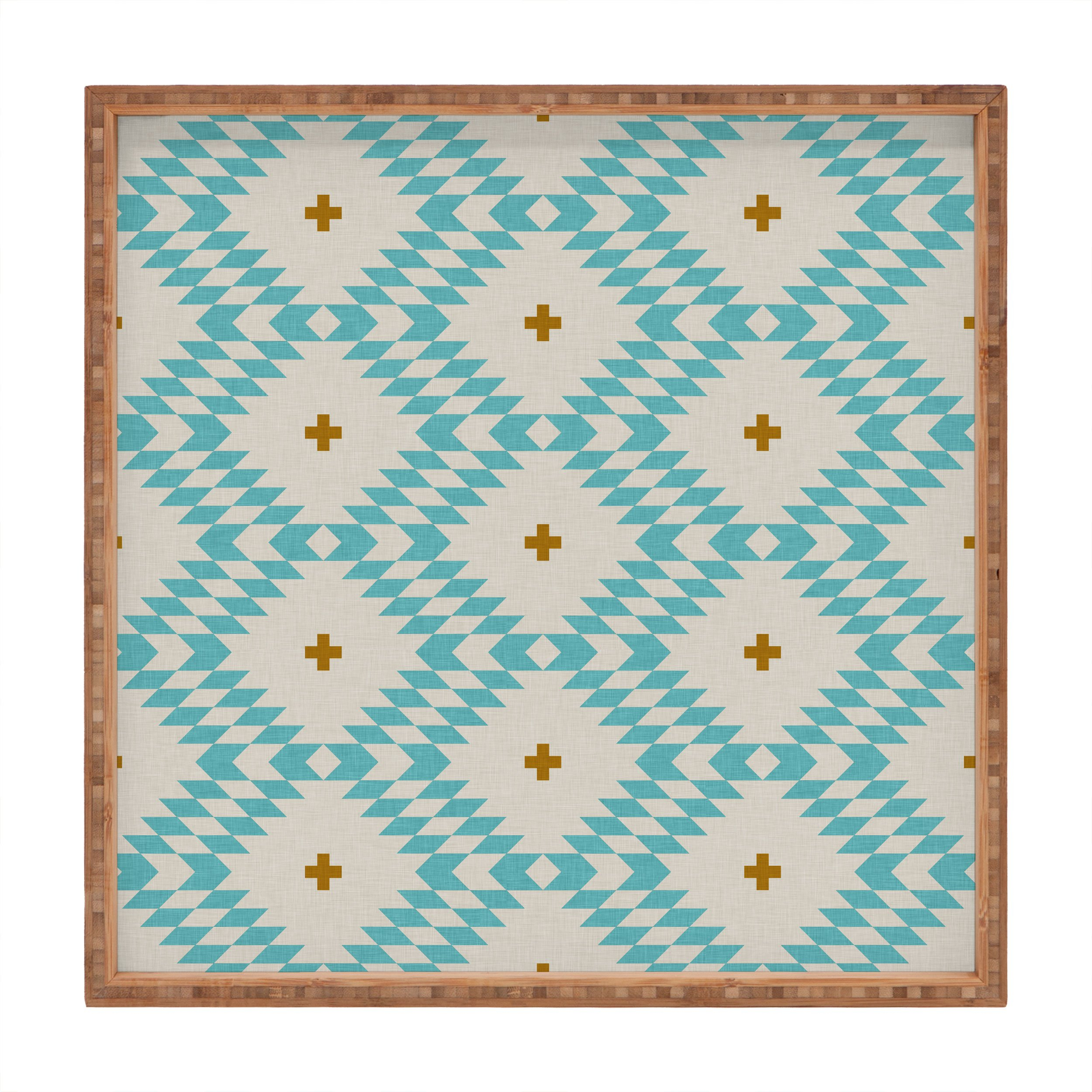 Image of Holli Zollinger Native Natural Plus Turquoise Square Tray