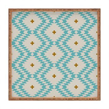 Holli Zollinger Native Natural Plus Turquoise Square Tray