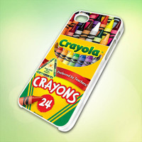 Melting Crayola Crayons design for iPhone 5 White Plastic Case - leave message for Black Case / iPhone 4 or iPhone 4S Case