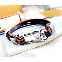 LV 2019 new retro woven men and women personality versatile bracelet