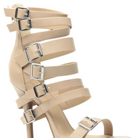 Summer Escape Natural Strappy Heels