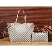 LV classic trend female shopping bag mother bag tote bag shoulder bag Messenger bag two-piece