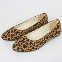 Pointed Toe Loafers Leopard Print Women Shoes Summer Ladies Flat Shoes Woman Fashion Flats Zapatos Mujer Plus Size 35-42 WSH2217