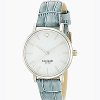 kate spade new york Metro Grey Croco-Embossed Leather Strap Watch - Si