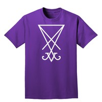 Sigil of Lucifer - Seal of Satan Adult Dark T-Shirt