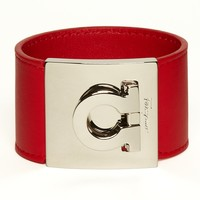 Salvatore Ferragamo Leather Gancini Cuff