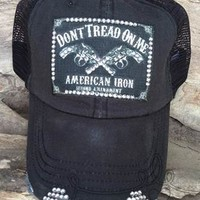 Designer Trucker Hat with Dont Tread on Me patch