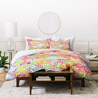 Joy Laforme Abstract Tropics I Duvet Cover