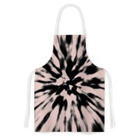 "Nika Martinez ""Tie Dye Rose"" Pink Abstract Artistic Apron"