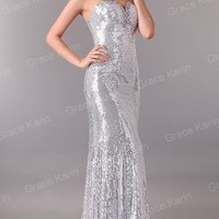 GK Sexy Mermaid Sequin Long Formal Prom Party Ball Gown Cocktail Evening Dresses