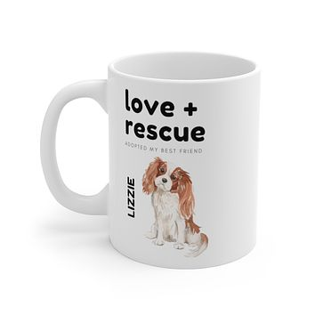 love + rescue Mug — Blenheim Cavalier King Charles Spaniel