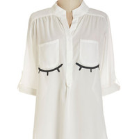 ModCloth Quirky Long 3 Peaceful Visage Top