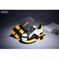 New Dolce& Gabbana Yellow White Black Women Men Fashion Casual Sports Shoes