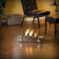 Home Nickel Portable Indoor Outdoor Fireplace Modern Patio Furniture Furnace