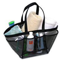Extra Large Mesh Shower Tote in Grey