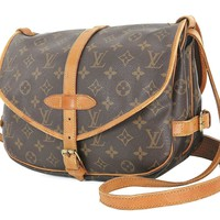 Authentic LOUIS VUITTON Saumur 30 Monogram Crossbody Shoulder Bag Purse #26646
