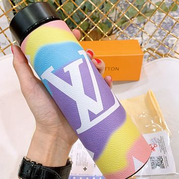LV New fashion letter print couple multicolor thermos
