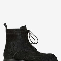 Jeffrey Campbell Clash Pony Hair Combat Boot
