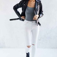Rolla's West Coast Mid-Rise Super Skinny Ankle Jean - Worn White