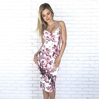 Be Near Me Floral Dress in Pink