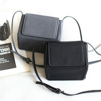 Box PU Leather Stylish Bags Zippers Decoration Shoulder Bags [4915814852]