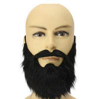Halloween party dress black beard theatrical prop cos Tricky masquerade Fancy Pirate Dwarf Elf Costume fake beards and mustaches