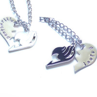 Fairy Tail Gajeel & Pantherlily Best Friends Necklaces
