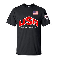 USA Basketball Men's Summer T-Shirt 100% Cotton and Available in 9 colors