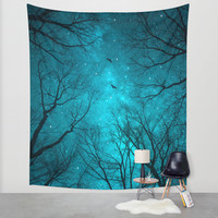 Stars Can't Shine Without Darkness Wall Tapestry by Soaring Anchor Designs