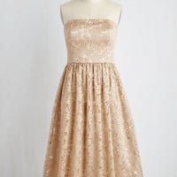 Long Strapless A-line Decadence the Halls Dress