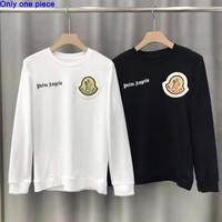 Moncler fashion casual hoodies sell embroidered round collars and long sleeves