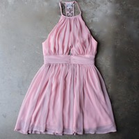 lost valley 2.0 dress in pink/mauve