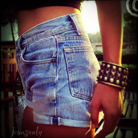 Vinatage high waisted cut off denim shorts by by Jeansonly on Etsy