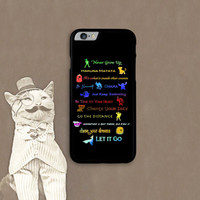 12 Disney lessons Phone case for Iphone and Galaxy Free shipping within US !